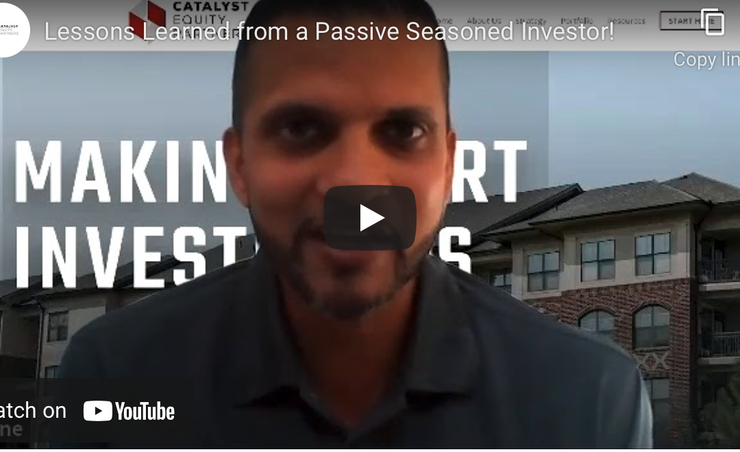Lessons Learned from a Passive Seasoned Investor!